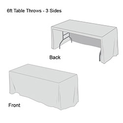 Front Logo Table Throw-6