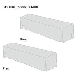 Front Logo Table Throw-8